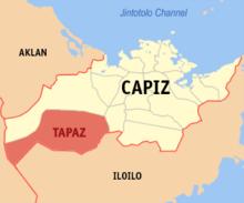 Peta menunjukan lokasi Tapaz