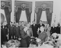 Photograph of George C. Marshall being sworn in as Secretary of State by Chief Justice Fred Vinson in the Oval... - NARA - 199522.tif