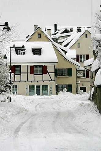 Arlesheim - Houses on Ermitagestrasse in Arlesheim