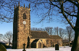 Emley, West Yorkshire - Image: Picture Postcard Parish Church geograph.org.uk 1298684