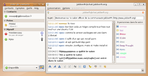 Screenshot di Pidgin (software)