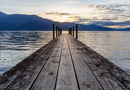 Pier by Sabine Hut, Nelson Lakes National Park, New Zealand