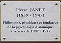 Pierre Janet plaque - 54 rue de Varenne, Paris 7.jpg