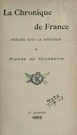 Pierre de Coubertin - Chronique de France, 1902.djvu