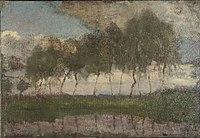 Piet Mondriaan - Bend in the Gein with row of eleven poplars IV - 0334267 - Kunstmuseum Den Haag.jpg