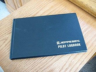 Logbook - An aircraft pilot's logbook.