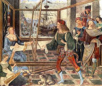 Palazzo del Magnifico - Pinturicchio, Ritorno di Ulisse