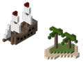 Pixelship island, ship and island fully made out of blocks like Minecraft.png