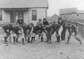 Plano Senior High School - The 1900 Plano football team was the school's first athletic team.