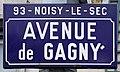 Plaque Avenue Gagny - Noisy-le-Sec (FR93) - 2021-04-16 - 1.jpg
