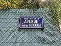 Plaque Avenue Georges Clemenceau - Les Lilas (FR93) - 2021-04-27 - 2.jpg