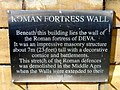 Plaque above the Roman fortress wall - geograph.org.uk - 1140920.jpg