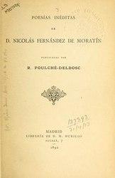 Nicolás Fernández de Moratín: Poesías inéditas de Don Nicolás Fernández de Moratín