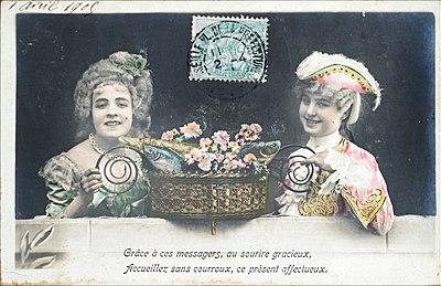 Poisson d'avril à la Belle Époque (1905).jpg