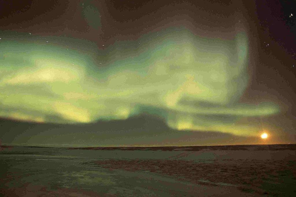 aurora borealis northern lights over Wapusk National Park, Manitoba