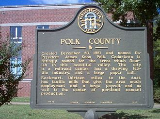Polk County, Georgia - The Polk County Historical Marker