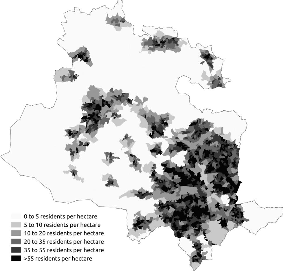 Population Density Bradford Metropolitan District Council Area 2011 Census
