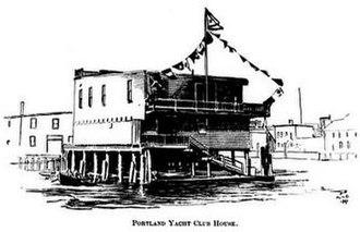 Falmouth, Maine - Image: Portland Yacht Club House c 1894