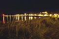 Portmahomack at night with reflection on water 2006 - geograph.org.uk - 304374.jpg
