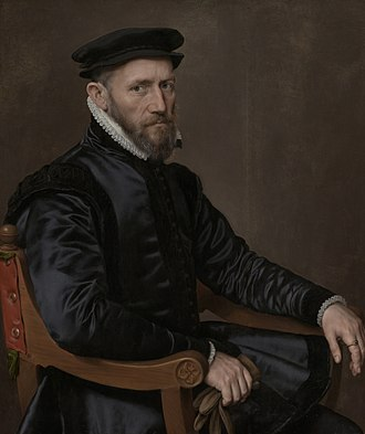 Antonis Mor - Portrait of Thomas Gresham; (1560).