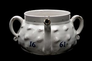 Eggnog - A 1661 posset pot from England.