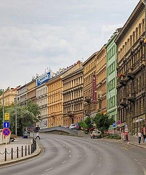 New Town, Prague - A street in Nové Město