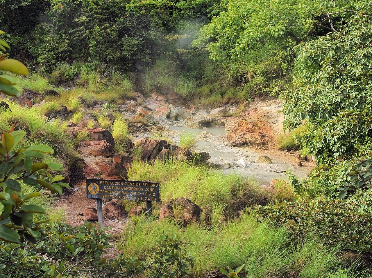 aguas termales del Volcán Rincón de la Vieja