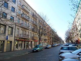 Kopenhagener Straße street in Berlin-Prenzlauer-Berg, Germany