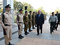 President Reuven Rivlin, visited The Kirya and received with an honor guard. April 2, 2015.II.jpg