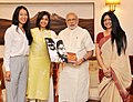 "Prime Minister Narendra Modi meets representatives of the ""Girl Rising"" campaign.jpg"