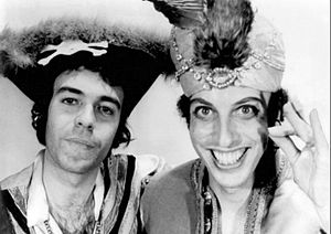 The Firesign Theatre - Philip Proctor (left) and Peter Bergman (right), 1976