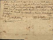 Promissory Note 1774