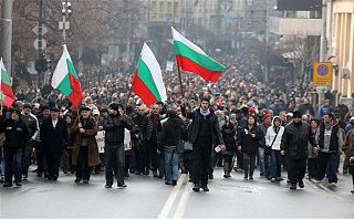 2013 Bulgarian protests against the first Borisov cabinet political protests held in Bulgaria