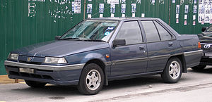 PROTON Holdings - The Proton Saga Iswara saloon, widely used as Malaysian taxis in the 1990s and early 2000s.