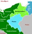Provinzen Westpreussen und Posen vor 1919 (mit Grenzen).png