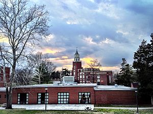 Southern Illinois University Carbondale - SIU Pulliam Hall during sunset