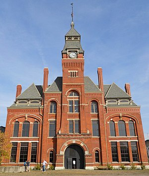 Pullman, Chicago - The former Pullman Clock Tower and Administration Building now the Pullman National Monument Visitor Center.
