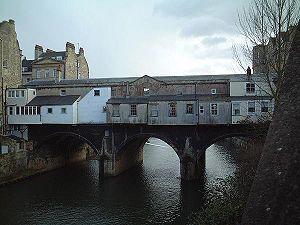 Pulteney Bridge - View from the north side