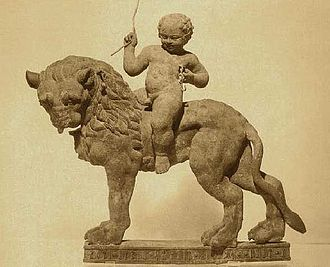 Qataban - Bronze lion with a rider made by the Qatabanians circa 75-50 BCE.