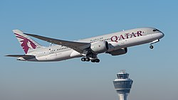 Qatar Airways Boeing 787-8 Dreamliner A7-BCA MUC 2015 04.jpg