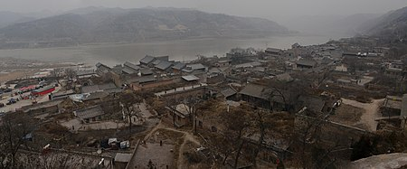 Yellow river wikipedia qikou town along yellow river in shanxi province sciox Image collections