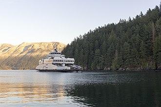 Bowen Island - Queen of Capilano Ferry Approaching Snug Cove, Bowen Island, British Columbia