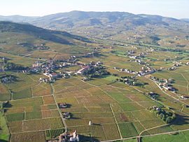 An aerial view of Quincié