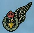 RCAF WWII 76 Wireless Operator jacket patch.jpg