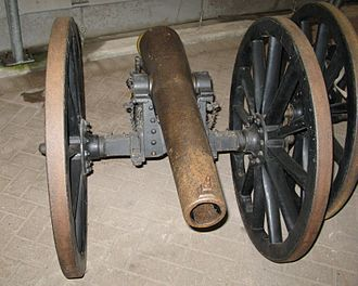 RML 7-pounder Mountain Gun - An example from 1885, at Royal Armoury, Fort Nelson, UK