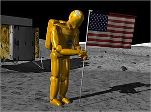Project M (NASA) - Simulation of Robonaut 2 on moon for Project M