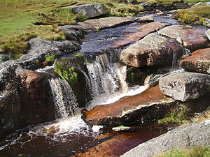 """East Dart River - The """"Waterfall"""" on the East Dart."""