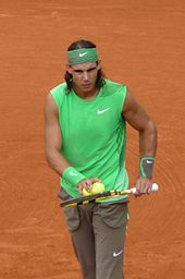 Rafael Nadal at the 2008 French Open