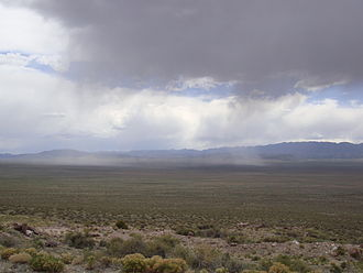 North American Monsoon - An isolated thunderstorm rolls through Wah Wah Valley, Utah.  This type of monsoonal pattern is very common in the late summer of the southwest US.