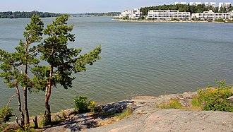 Outcrop - A typical shore outcrop scoured by ancient glaciers in Espoo, Finland.